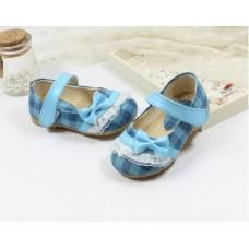 Туфлі дитячі блакитні 6343